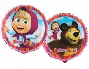Balon foliowy 18 cali Masha z niedźwiedziem