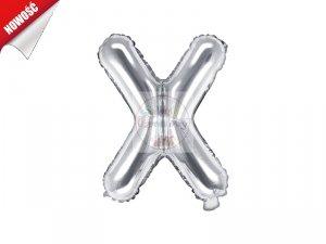 Balon foliowy Litera X 35 cm srebrny