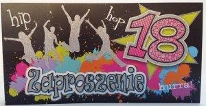 Zaproszeniene Hip Hop 18 hurrra!