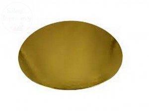 Podkład złoty pod tort 26 cm.
