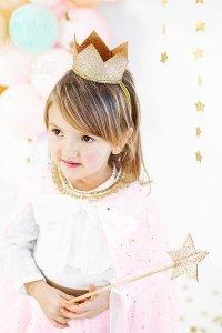 Korona złota 1 szt kostium królewny