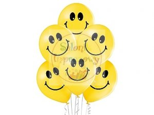 Balony 12 cali SMILEYS mix color 1 szt