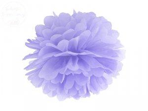 Pompon bibułowy jasno liliowy 35cm 1szt