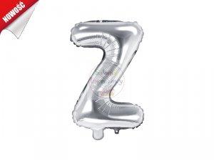 Balon foliowy Litera Z 35 cm srebrny