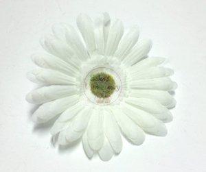 Kwiat sztuczny  GERBER w kolorze białym 1szt