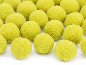 Pompony pluszowe żółte 2c 20 szt
