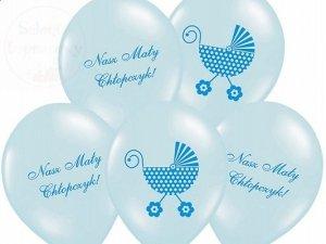 Balony błęiktne 14cali Nasz Mały Chłopczyk -1szt