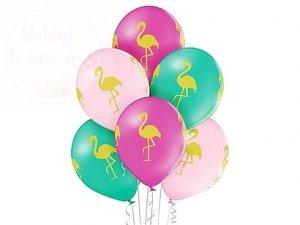 Balony 12 cali Flamingi mix color 1 szt