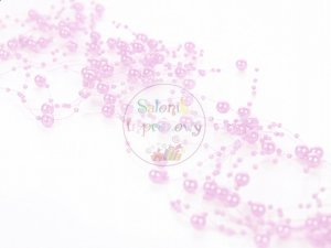 Girlanda perłowa kolor wrzosowy róż 1,3m 5szt