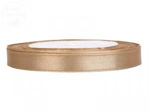 Tasiemka satynowa jasne złoto 6mmx25m
