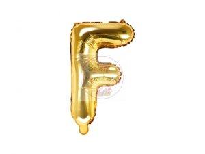 Balon foliowy Litera F 35 cm złoty