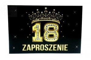 Zaproszenie na 18-ste Urodziny  Korona  - 1szt