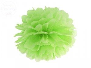 Pompon bibułowy jasno zielony 35cm 1szt