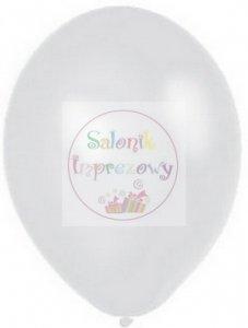 Balony 12 cali metaliczne białe 1 szt