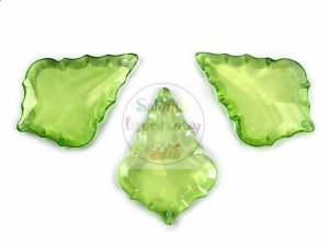 Zawieszka mała łezka j. zieleń 3,2x4,6cm 3 szt