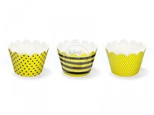 Papilotki na muffinki Pszczółka   5x7,5x5 cm