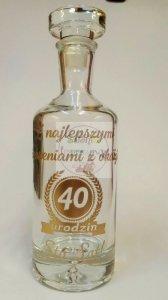Karafka z grawerem prezent na urodziny 18, 30, 40, 50
