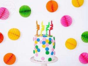 Świeczki urodzinowe do tortu SPIRALE 4szt