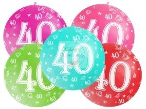 Balon 1 metr pastel biały 40-te urodziny 1szt