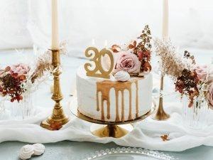 Świeczka urodzinowa do tortu liczba 30