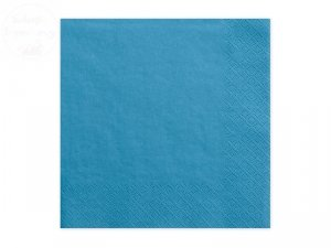 Serwetki 3 wartsw 33x33 niebieskie 20 szt