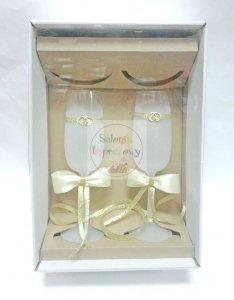 Kieliszki dekorowane Basic  170 ml