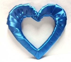 Serce styropianowe duże w kolorze niebieskim