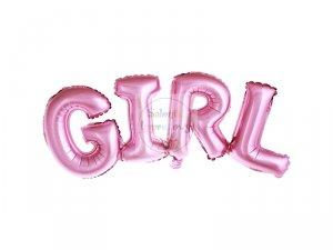 Balon foliowy różowy GIRL 74x33 cm