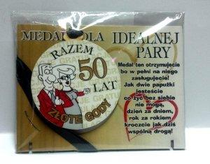 Medal podstawka 50 Rocznica ślubu