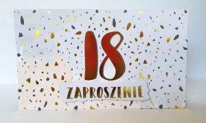 Zaproszenie na 18 urodziny 1szt