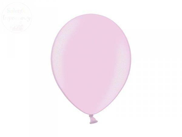 Balony 12 cali metalic jasnoróżowe