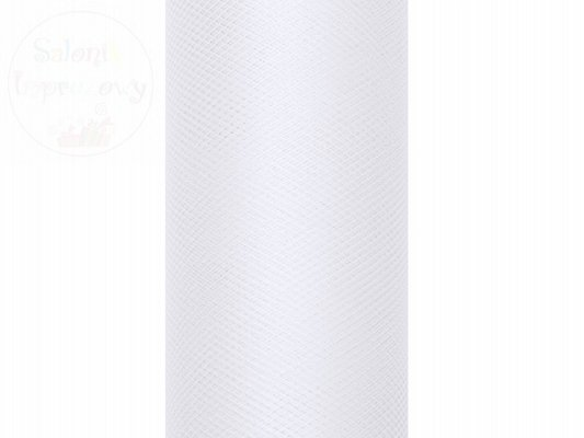 Tiul na szpulce 30cmx9m biały