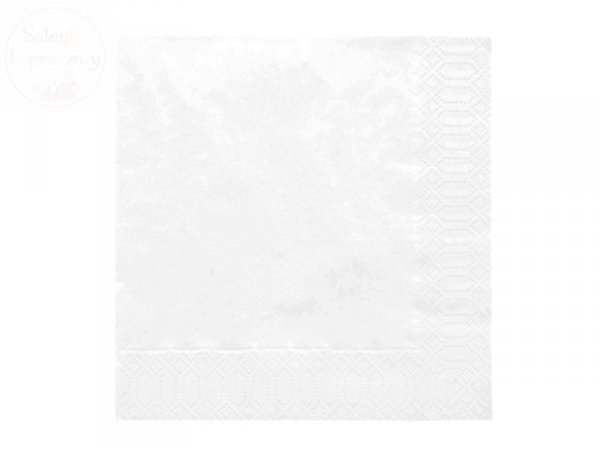 Serwetki 3 wartsw 33x33 białe 20 szt 160814