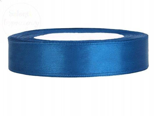Tasiemka satynowa niebieska 12mm TS12-001