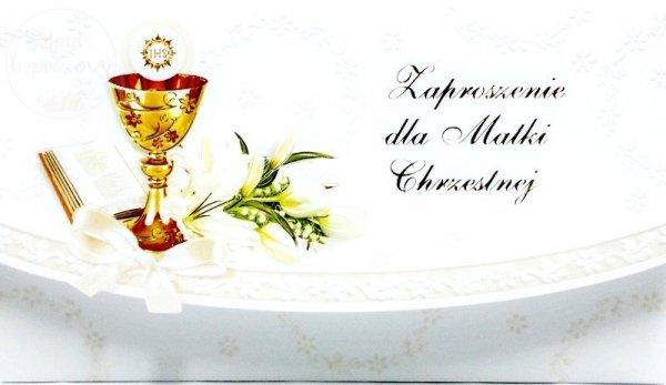 Zaproszenie na Komunię dla Matki Chrzestnej 1szt