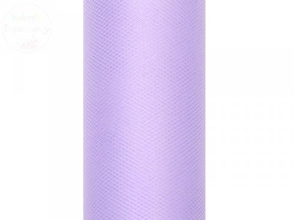 Tiul na szpulce  15cm x 9 m liliowy