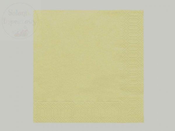 Serwetki 3 warstw. 33x33 kremowe 20szt 290514