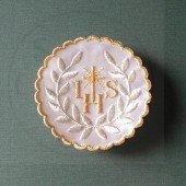 Emblemat haftowany IHS złoty, hostia