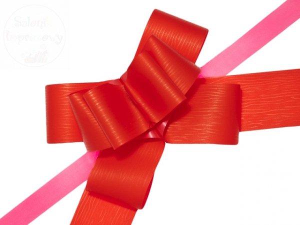 Wstążka ściągana 5cm czerwona WSC5-007