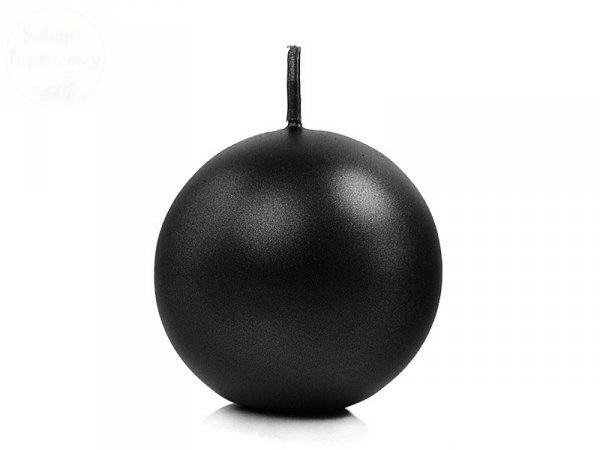Świeca kula czarna mestalizowana 8cm 1 szt