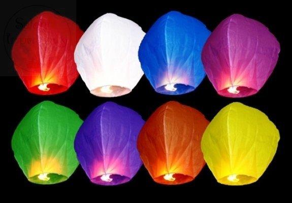 Lampion 38x58x108cm mix kolor 10szt