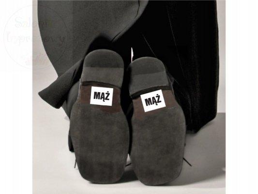 """Naklejki na buty """"MĄŻ""""  2szt NB10"""