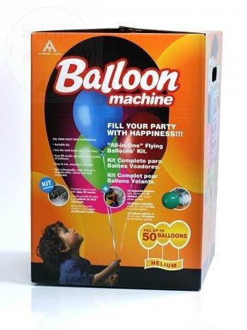 Butla z helem do balonów jednorazowa + balony