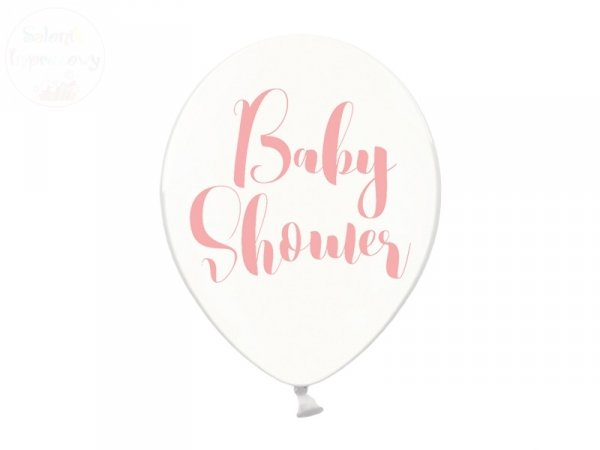 Balony 30cm Baby Shower - przezroczyste