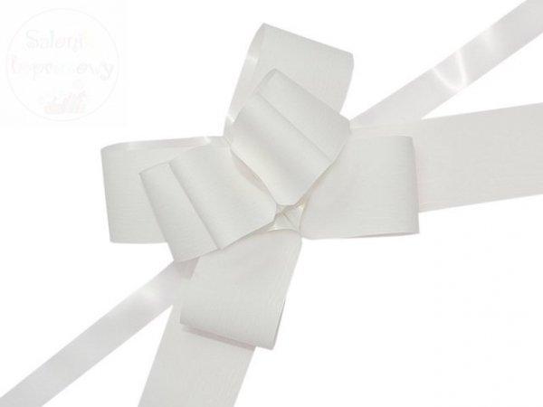 Wstążka ściągana biała 5 cm