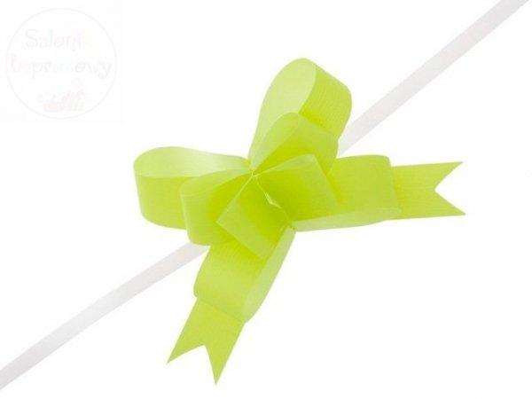 Wstążka ściągana 3 cm j.zielona