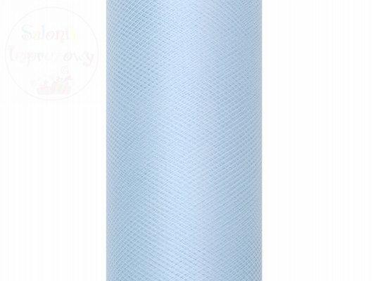 Tiul gładki błękitny 0,3 x9m 1szt