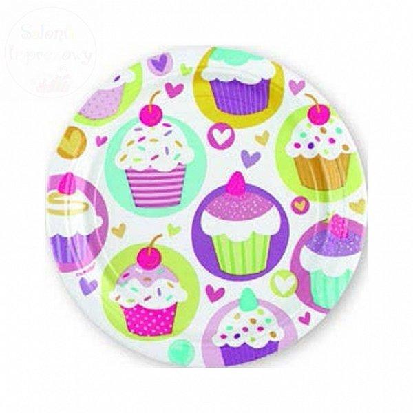 Talerzyki urodzinowe Cupcake 23cm