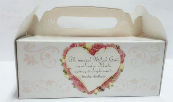Pudełko na ciasto weselne z całym dnem nr 11