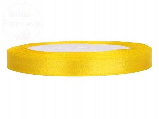 Tasiemka satynowa żółta 6mm/25m